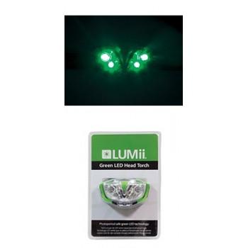 Lampe frontale verte