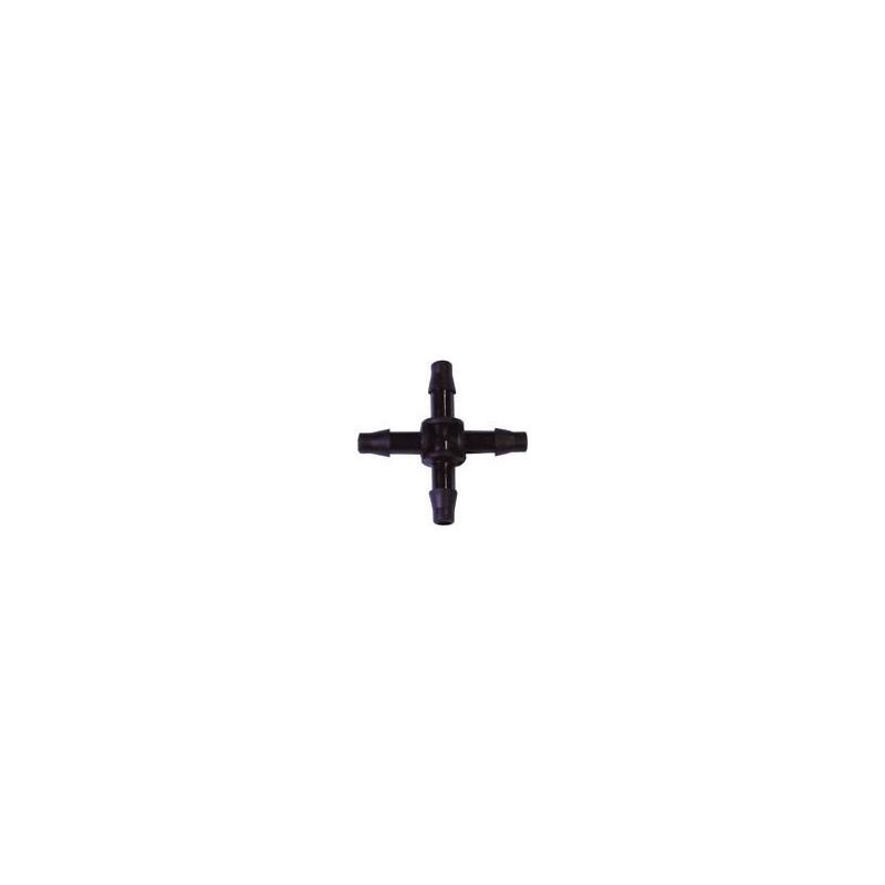 Raccord en croix 4mm